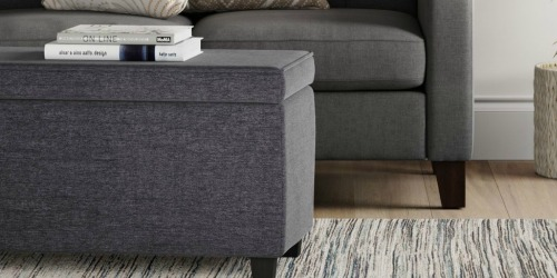 Room Essentials Double Storage Ottoman Only $56.52 Shipped on Target | Awesome Reviews