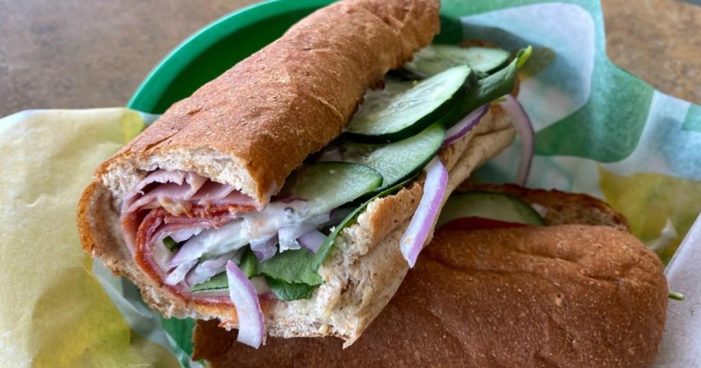 Subway Sub Sandwich at Subway
