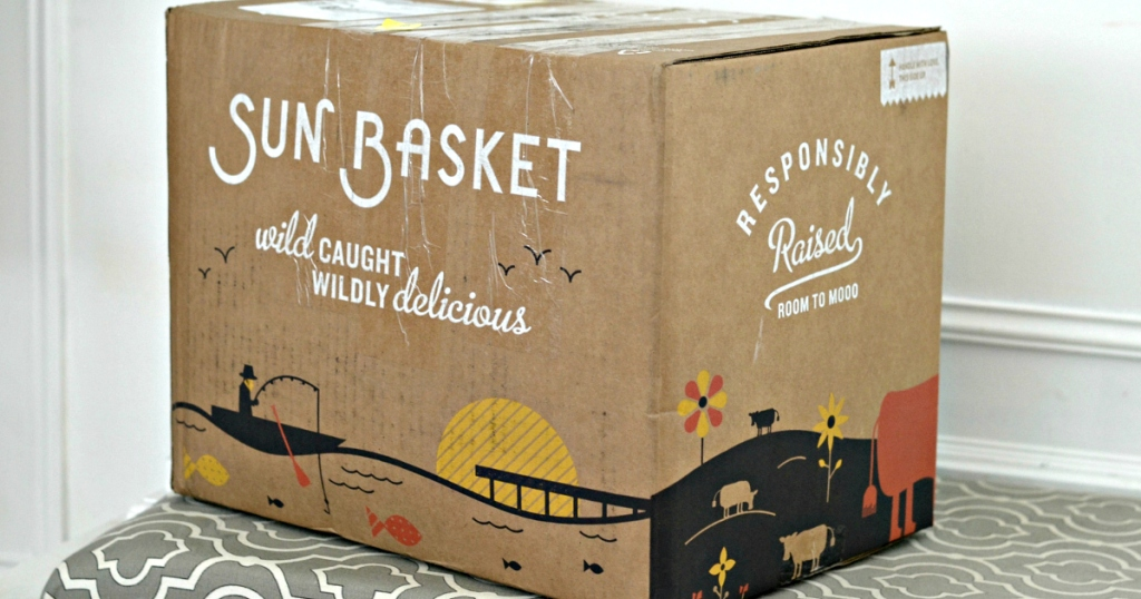 box of food from Sun Basket
