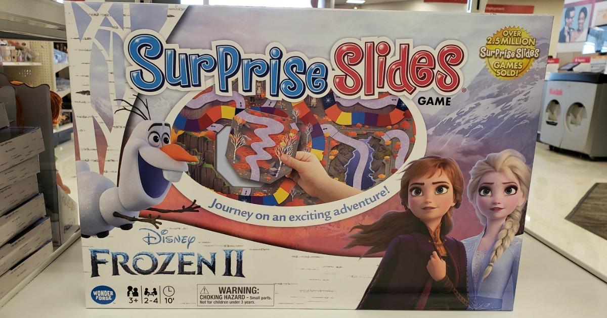 Surprise Slides board game on a shelf