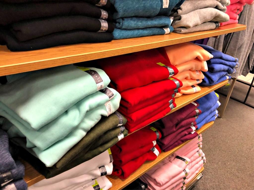 Tek Gear Sweatshirts on shelf in Kohl's