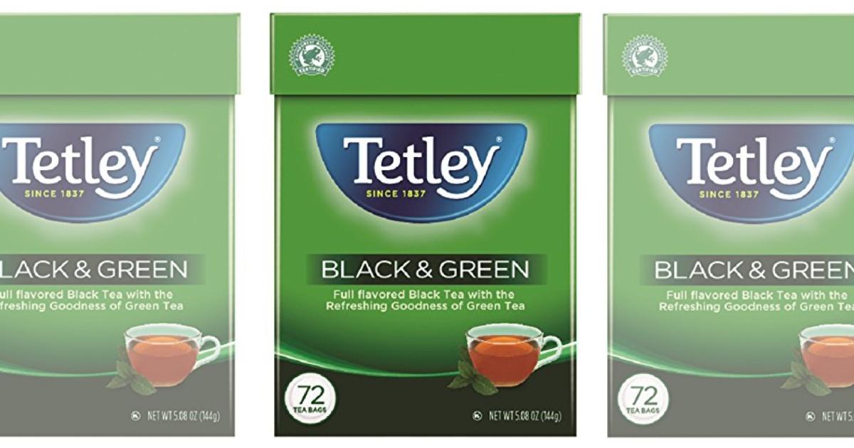 Tetley Black \u0026 Green Tea Bags 72-Count