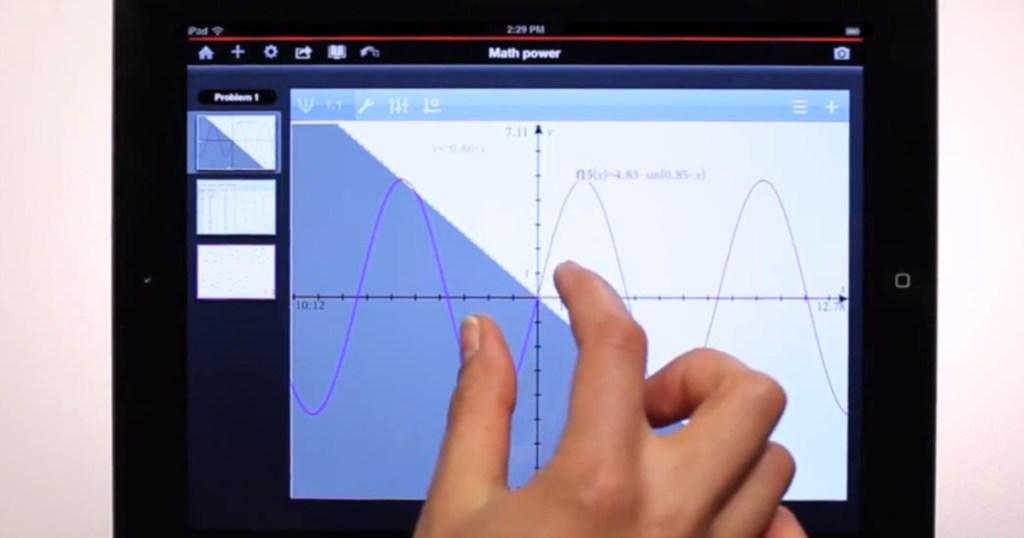 hands using ipad graph