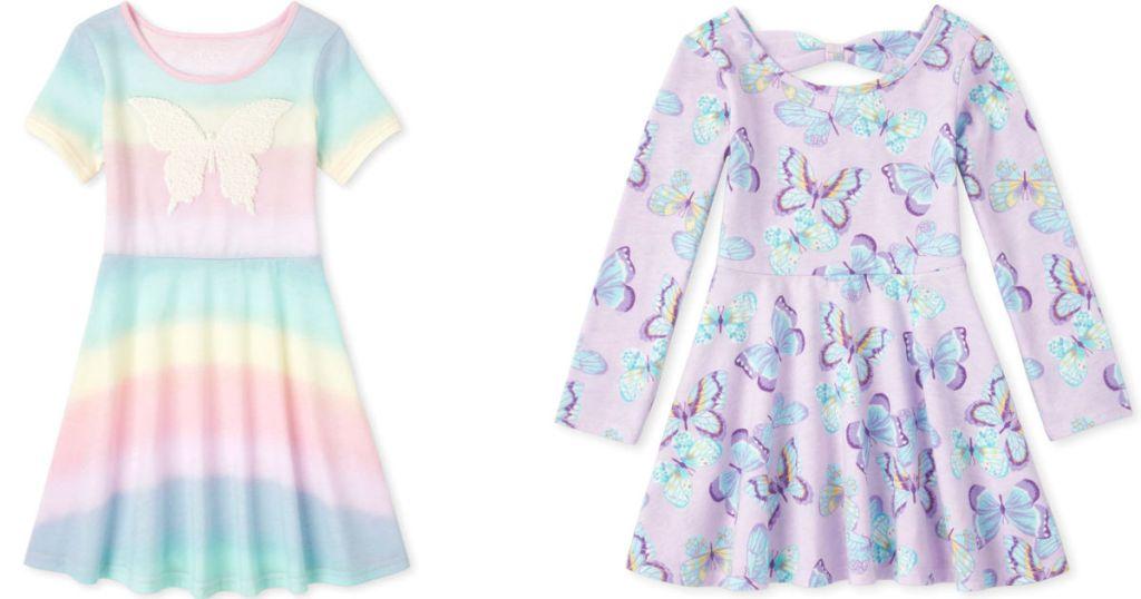 rainbow butterfly dress