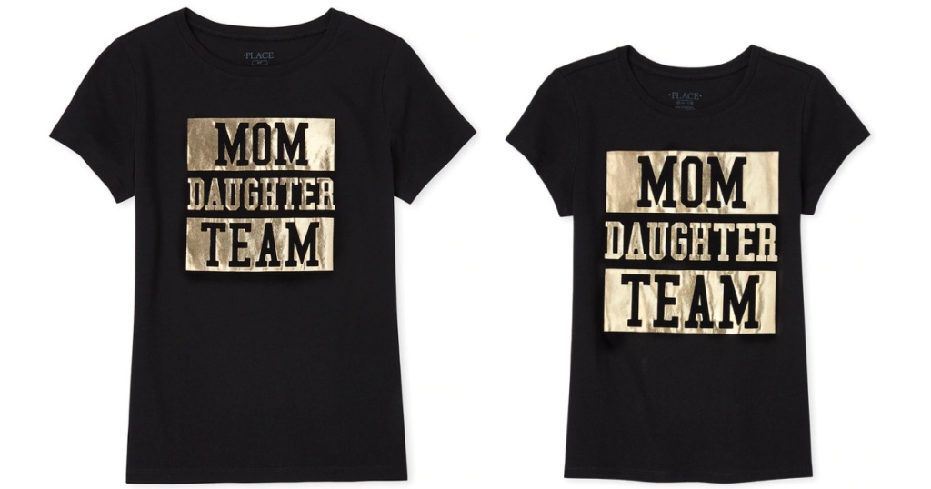 The Children's Place Matching Kid and mom tees