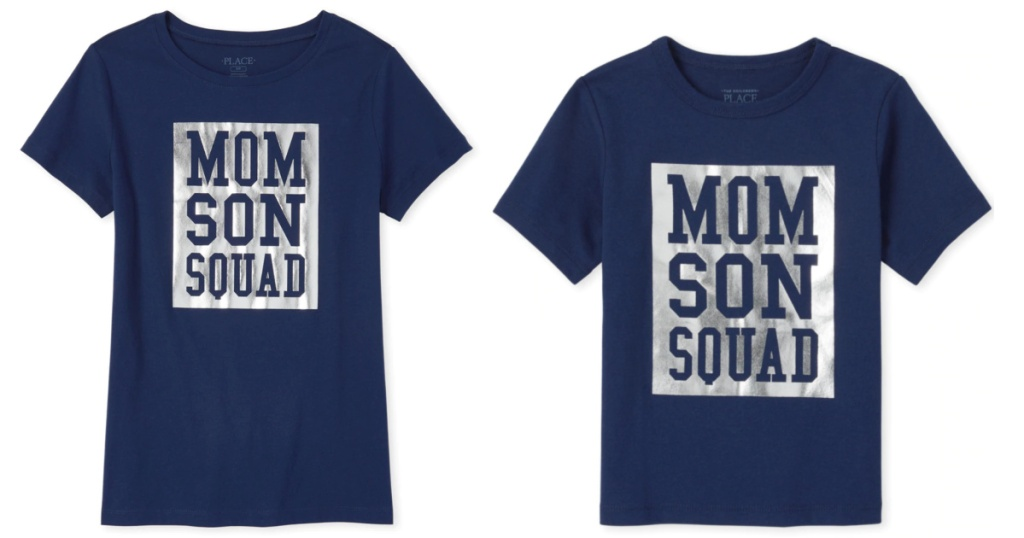 Children's Place Mom Son Squad Tees