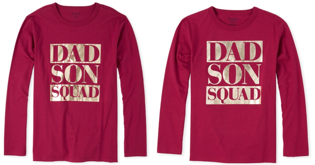 Children's Place Dad and Son Squad Tees