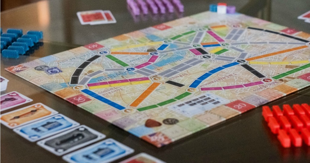 Ticket to Ride London Board Game Lifestyle Image
