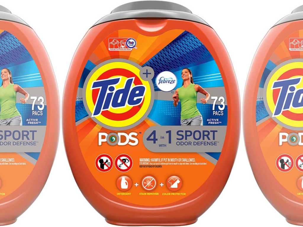 Tide Pods 4 in 1 sport with febreze