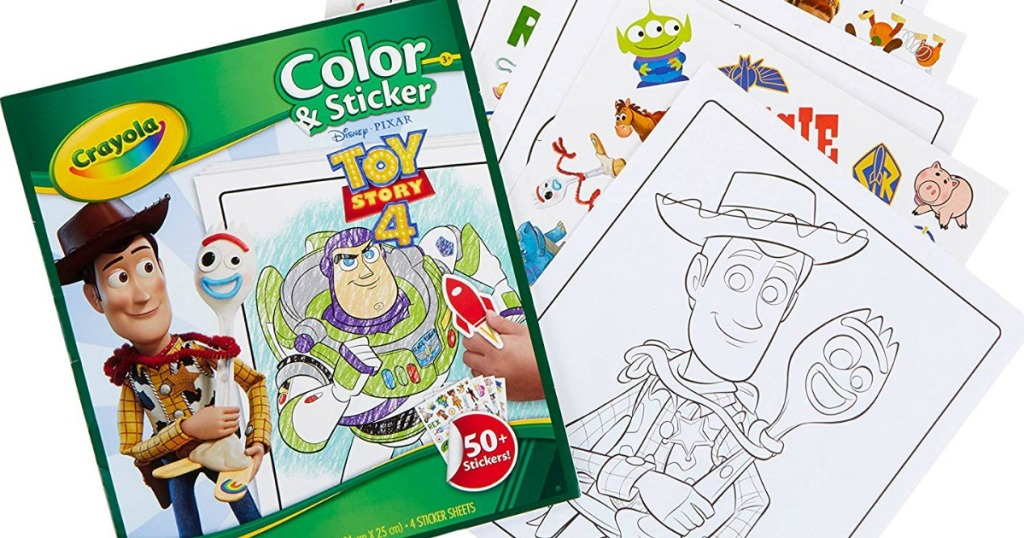 toy story 4 coloring book and pages