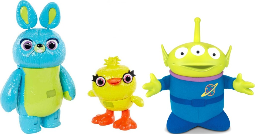 bunny, duck and alien toy