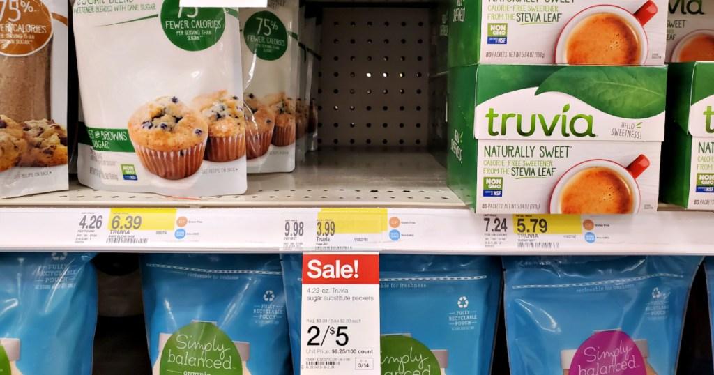 Truvia on shelf in Target