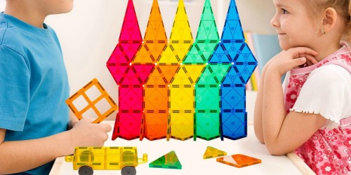 Magnetic Learning Tiles 60-Piece Building Set Only $19.97 on Walmart.com (Regularly $40)