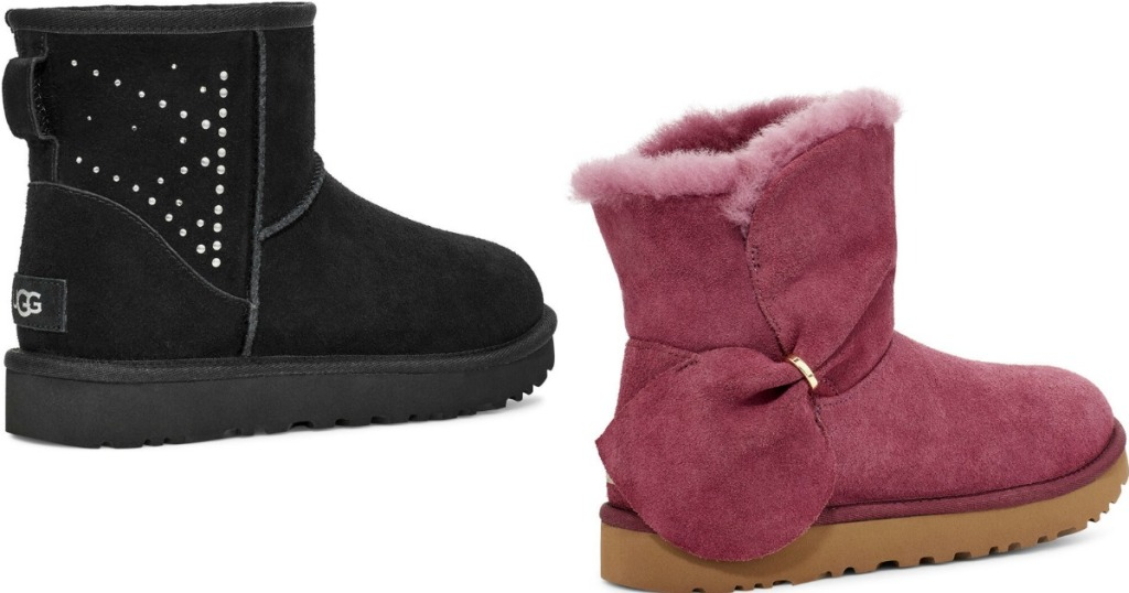 two UGG boots