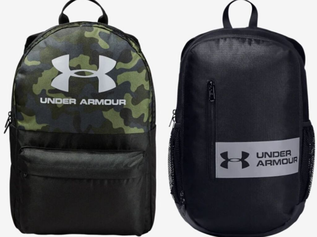 two Under Armor backpacks