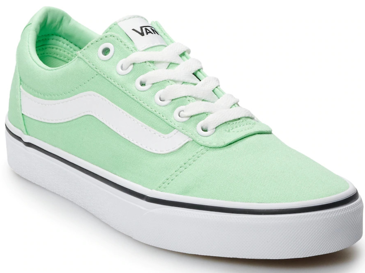 women's mint green and white casual shoe