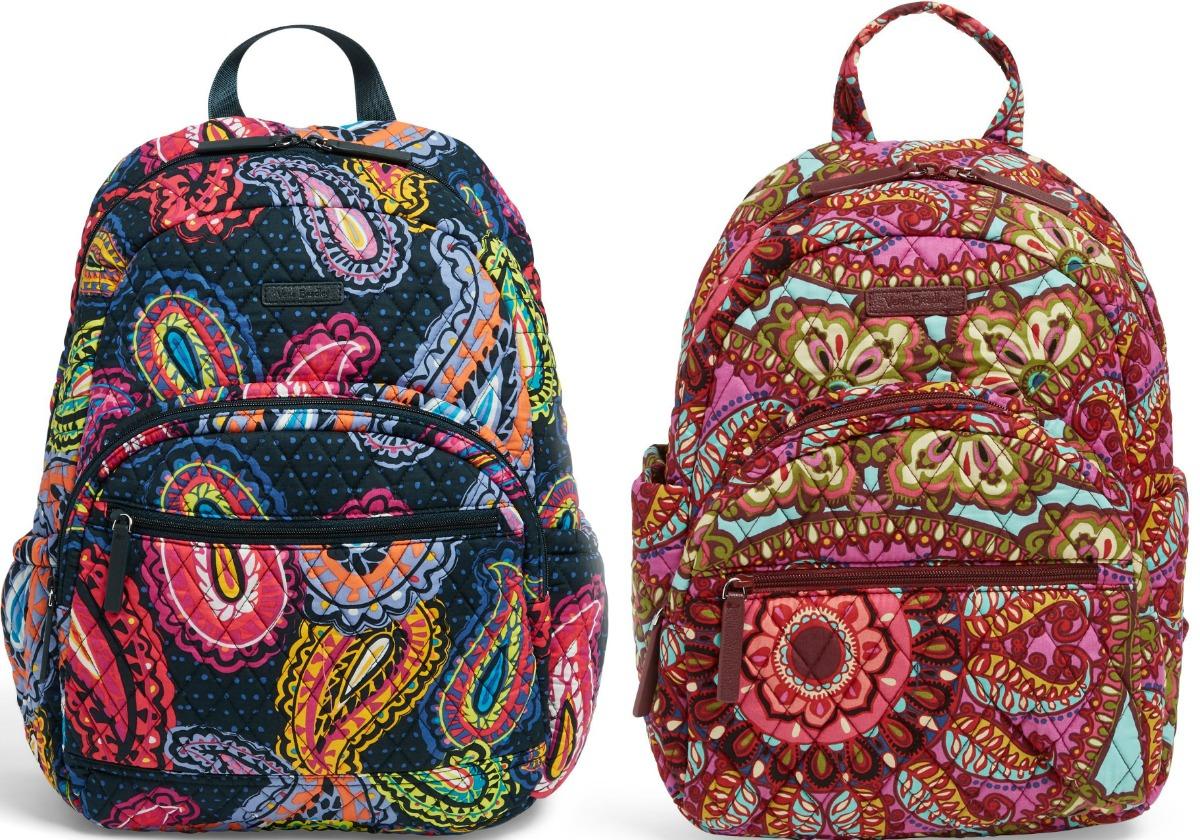 Vera Bradley backpacks in two prints
