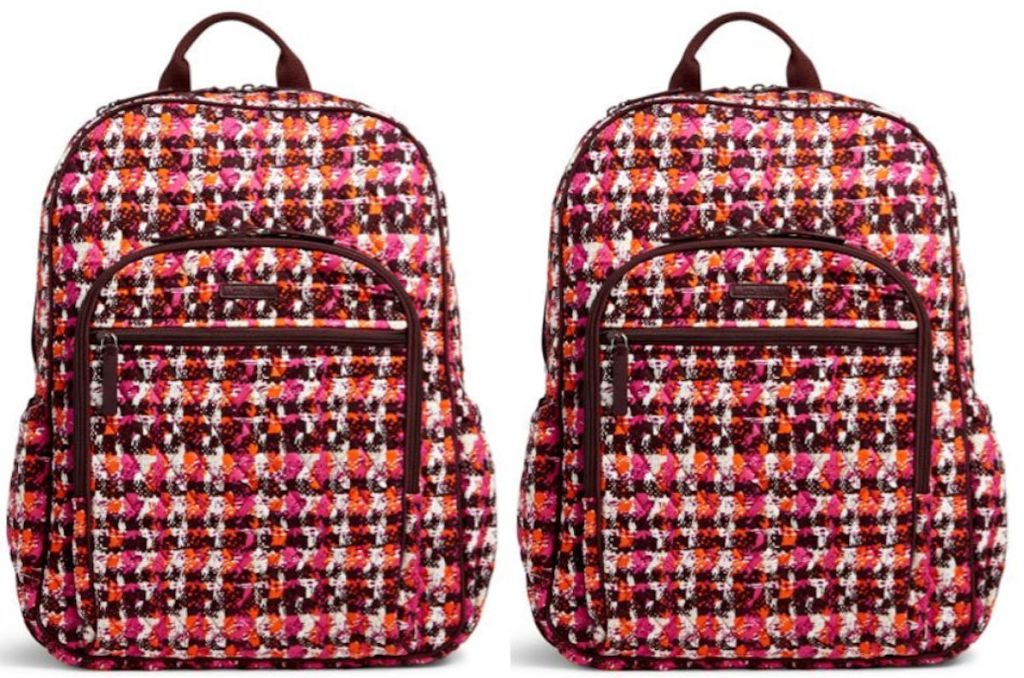 Vera Bradley Campus Tech Backpack in Houndstooth Tweed