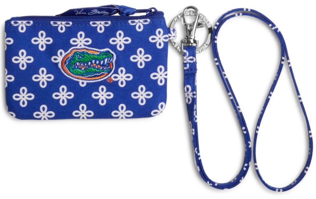 university of florida gators Vera Bradley Collegiate Zip ID Lanyard (1)