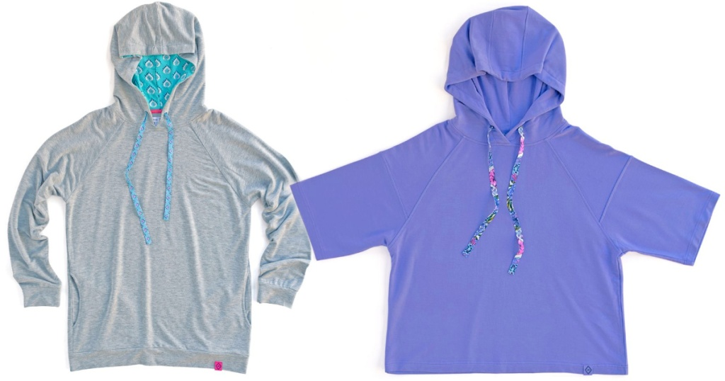 purple and grey vera bradley hoodies