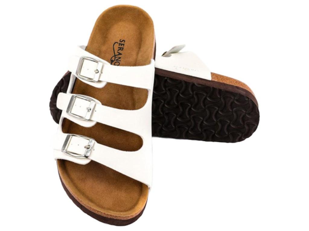women's white strap sandal