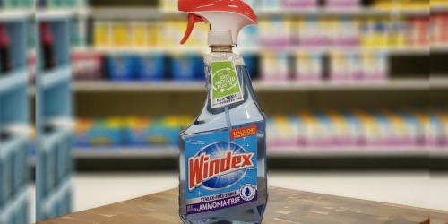 Windex Ammonia-Free Glass Cleaner 23oz Bottle Only $1.90 Shipped on Amazon