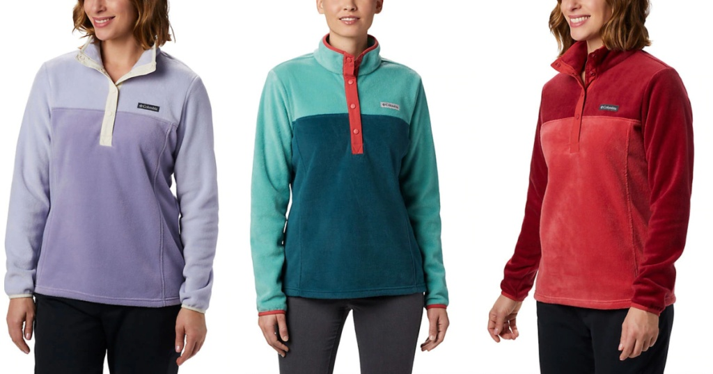lavender, red, and teal Women's Benton Springs™ Half Snap Pullover