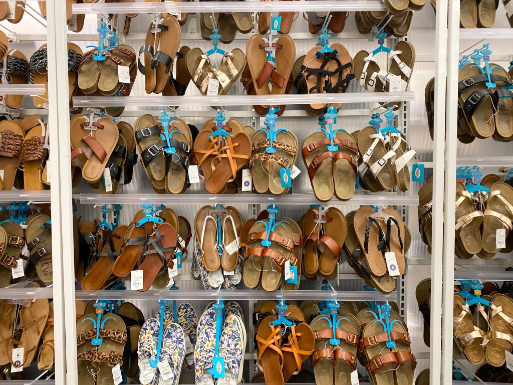 Women's Footbed Sandals on Target display
