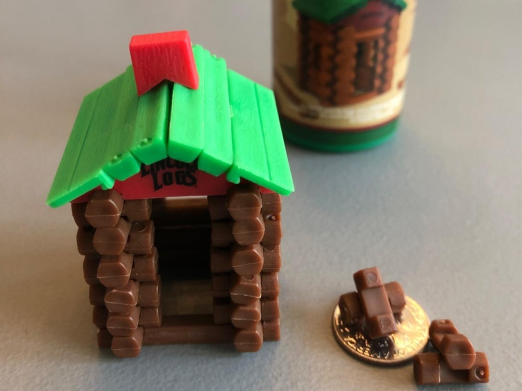 very small lincoln logs toy set
