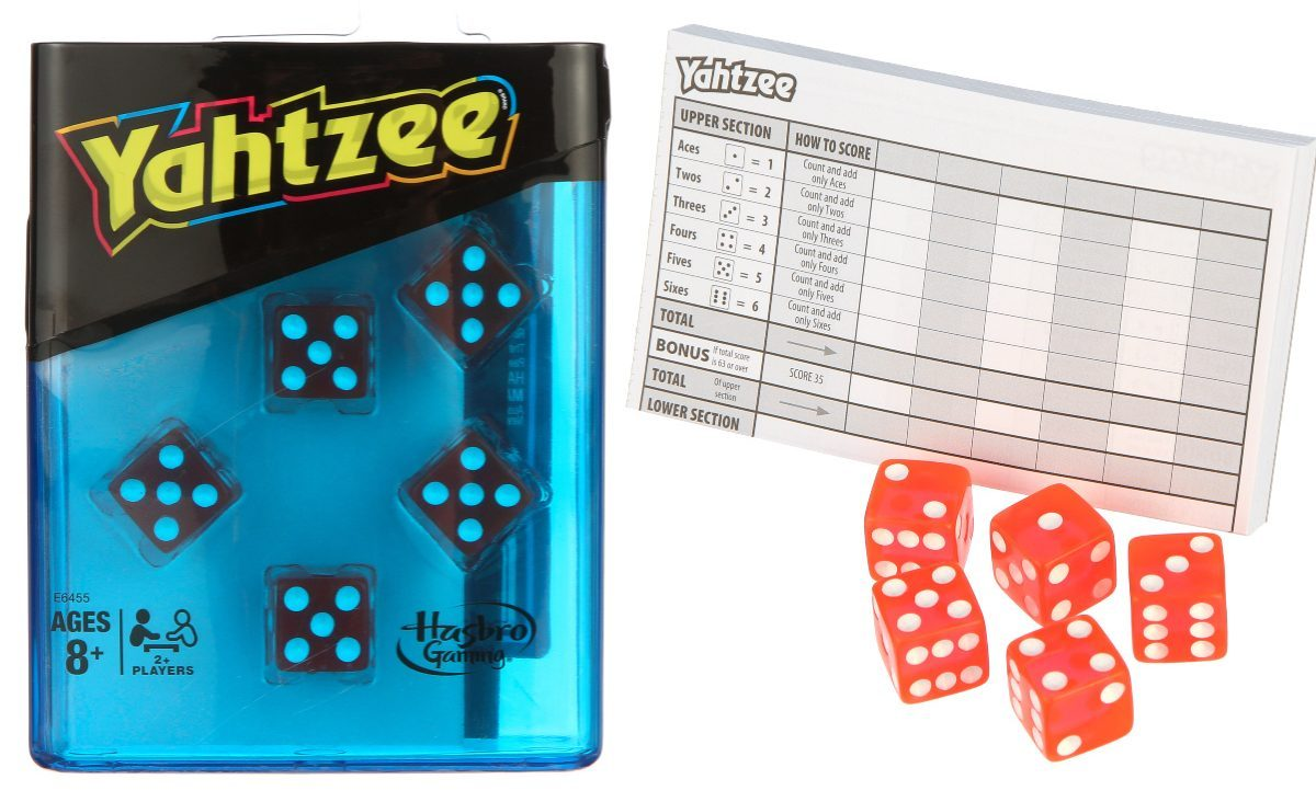 dice game and paper instructions