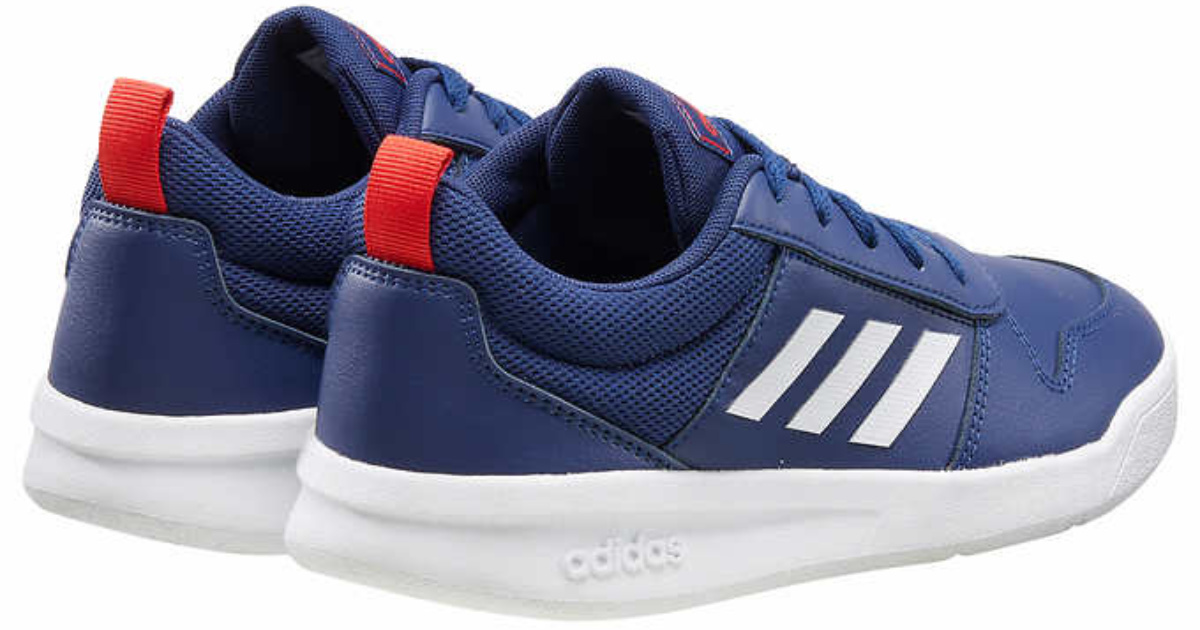 blue red and white adidas shoes