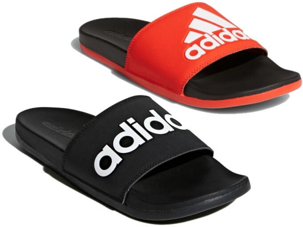 two pairs of mens rubber slides