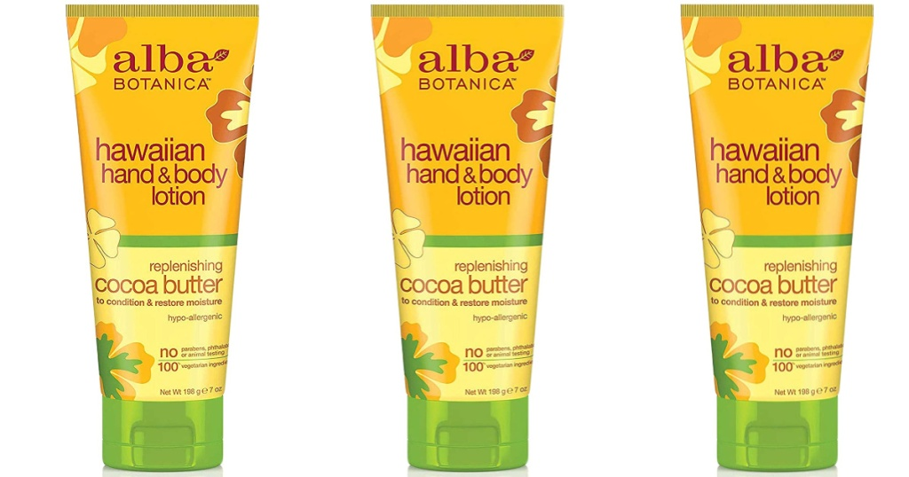 3 bottles of alba botanica hand and body lotions