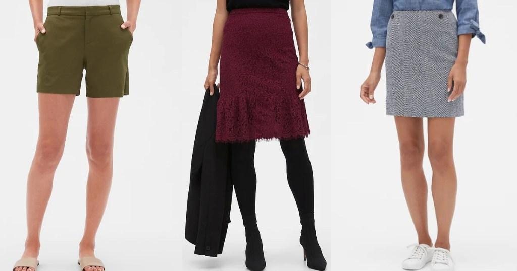 banana republic shorts and skirts
