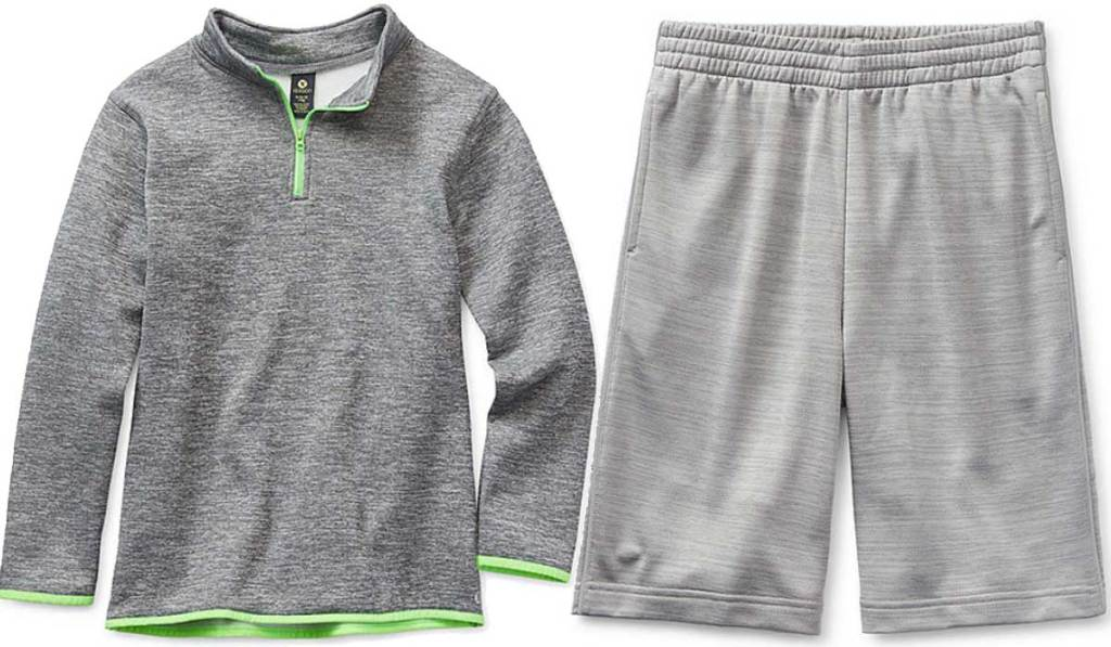 boys pullover and shorts