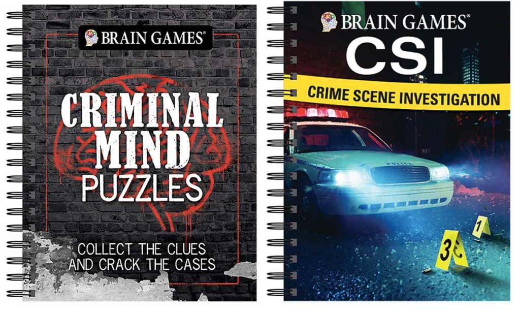 brain games criminal puzzle books
