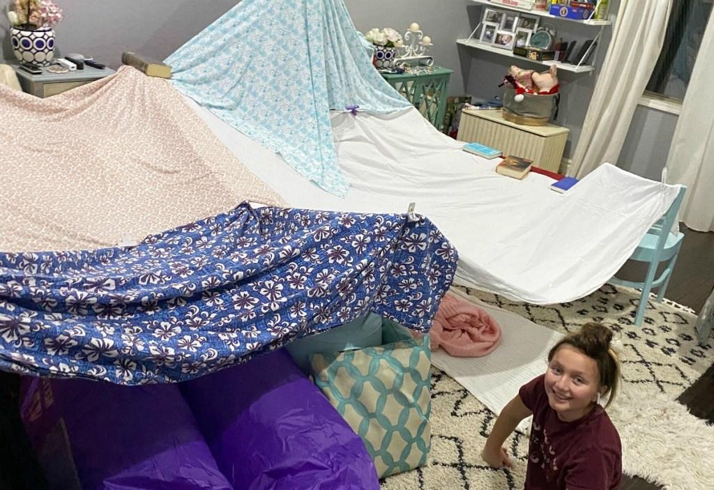 building a large indoor kids fort