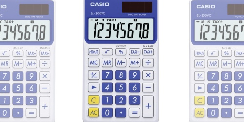 Casio Standard Function Calculator Only $4.50 (Regularly $9)