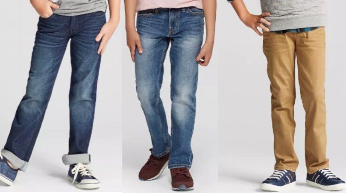 boys legs wearing jeans