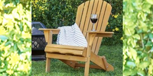 Adirondack Folding Wood Chair Just $54.99 Shipped