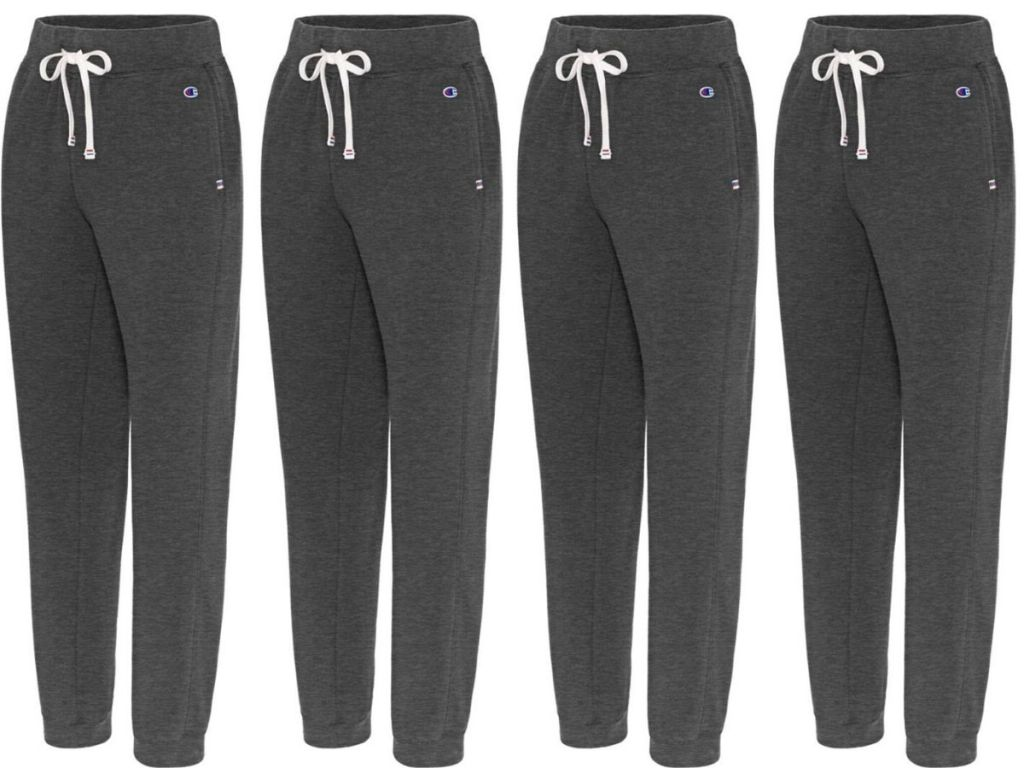 four pairs of women's terry jogger pants