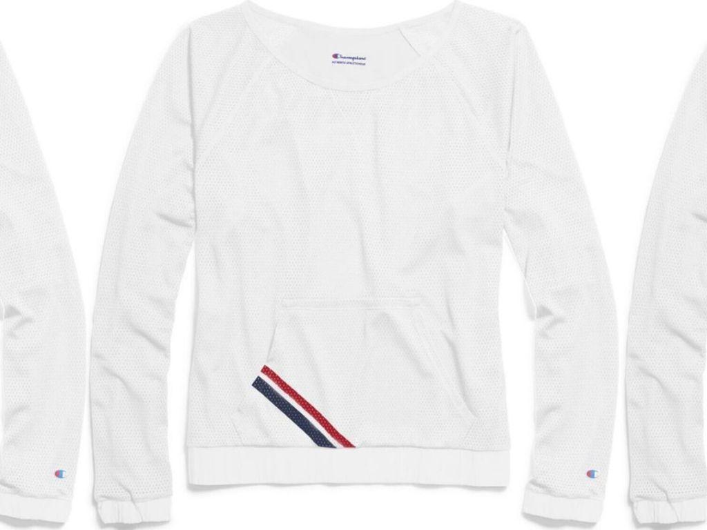 woman's mesh sweatshirt