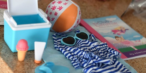 Club Eimmie Summer Beach Pack Only $10 Shipped | Includes Bathing Suit, Sunglasses & More for 18″ Dolls