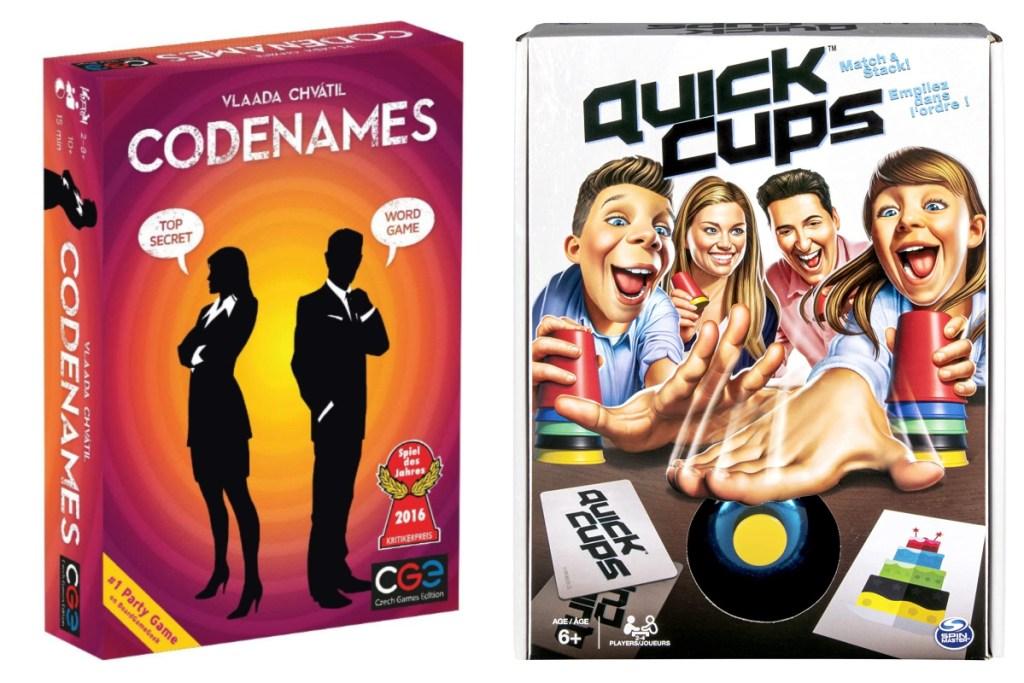 codenames + quick cups games