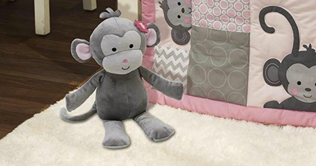 stuffed toy monkey on the floor