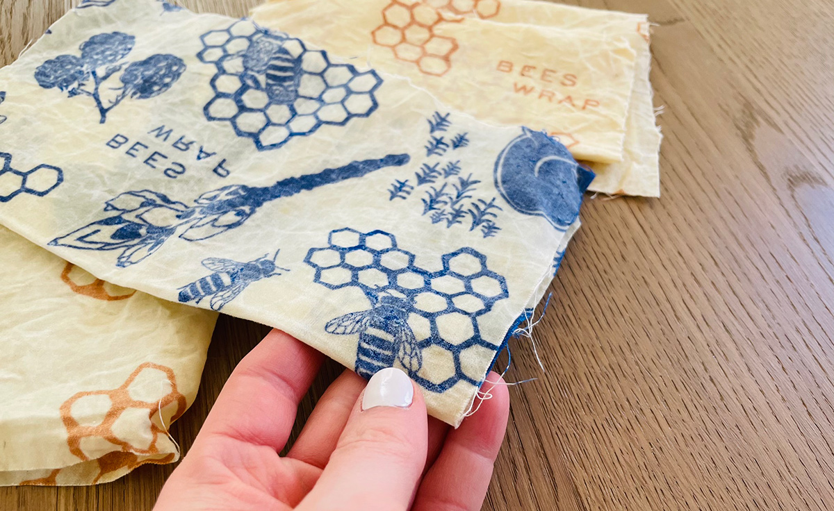sheet of cut beeswax wraps