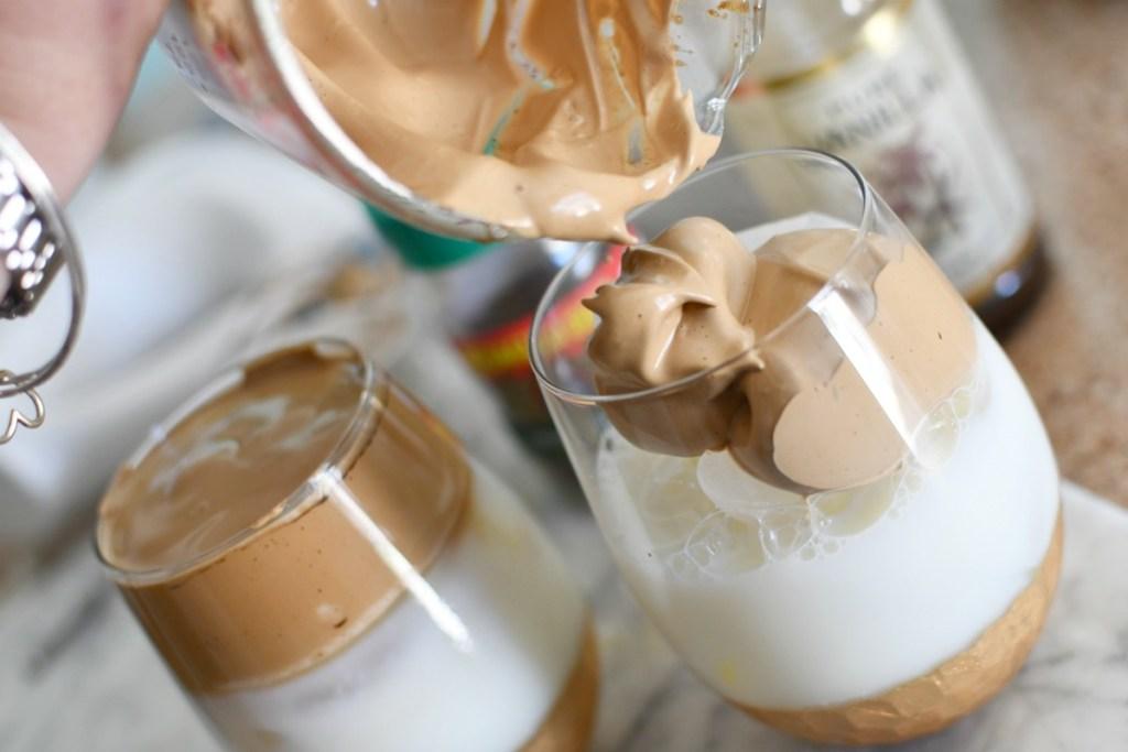 dalgona coffee with milk
