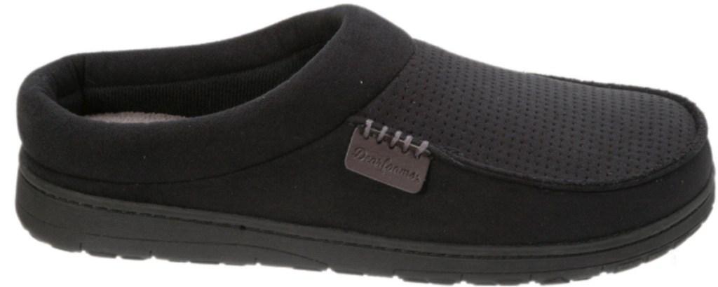 dearfoams black slippers
