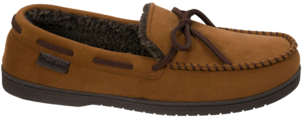 brown fur-lined slippers