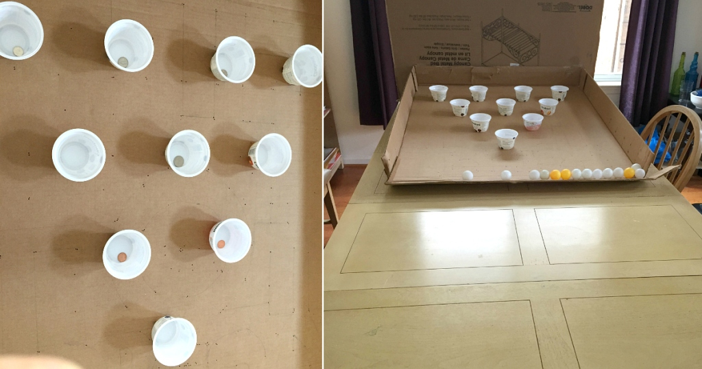 plastic cups for ping pong game